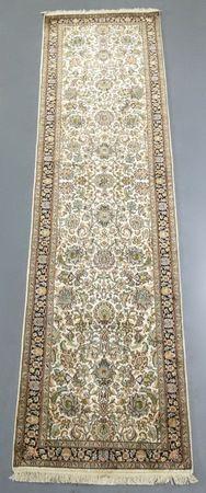 Kashmir Pure Silk Runner (Ref 065377) 312x76cm - PersianRugs.com.au