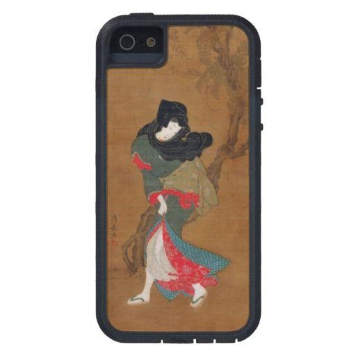 Beauty Summer Breeze Torii Kiyonaga geisha scroll iPhone 5/5S Cases