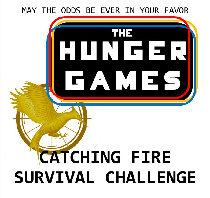The Hunger Games Survival Challenge: Catching Fire | zen & the art of teen services  Updated with new challenges; 15 in all. Nearly everything you need to run a scavenger-hunt-style event for your teens!