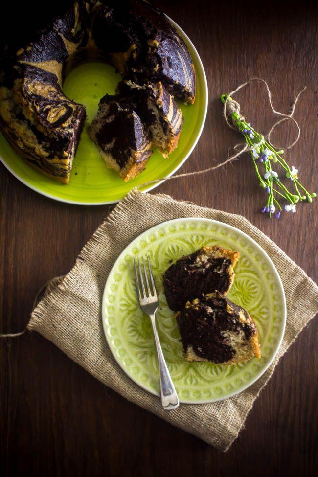 Νηστίσιμο κέικ μαρμπρέ - Myblissfood.grMyblissfood.gr