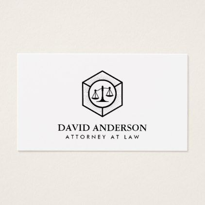 #Lawyer Attorney at Law Plain Minimalist Business Card - #office #gifts #giftideas #business