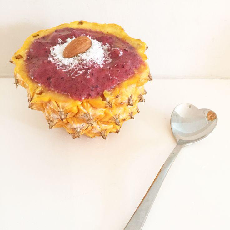 Berry, banana & pineapple ice cream (dairy free, sugar free)