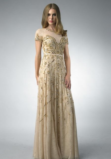 60d289de16a9 Nice Gold lace dresses 2018-2019 Check more at http   myclothestrend.com  dresses-review gold-lace-dresses-2018-2019