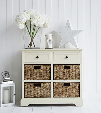 Interior storage solutions for your country cottage home. The Cambridge Cream storage sideboard furniture