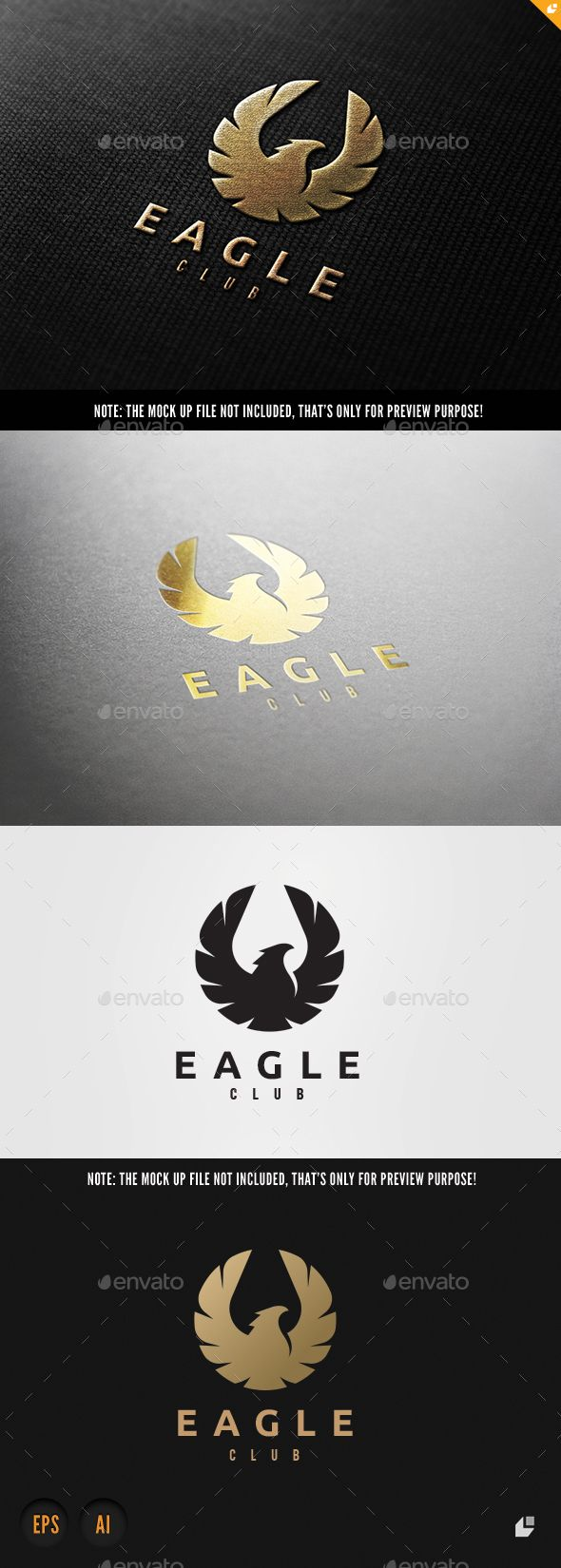 Eagle Club Logo Template Vector EPS, AI Illustrator. Download here: http://graphicriver.net/item/eagle-club/15919819?ref=ksioks
