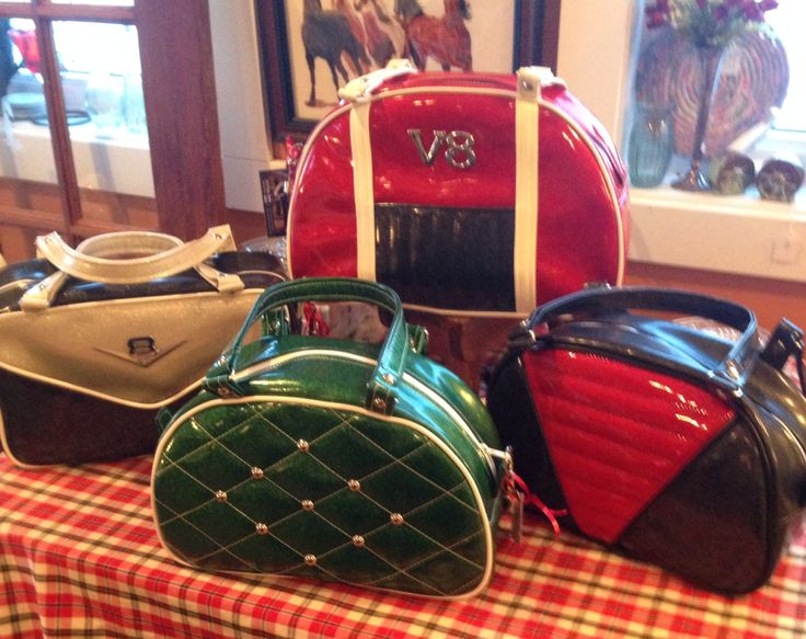 Vintage Auto inspired purses, some of L&C Tradings creations