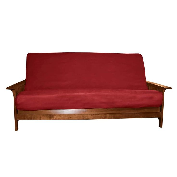 EpicFurnishings Ultima Queen-size Microfiber Futon Cover (Suede - Red - 9 to 11-inches thick)