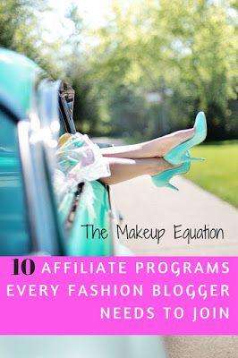 The Makeup Equation: 10 Fashion Affiliate Programs