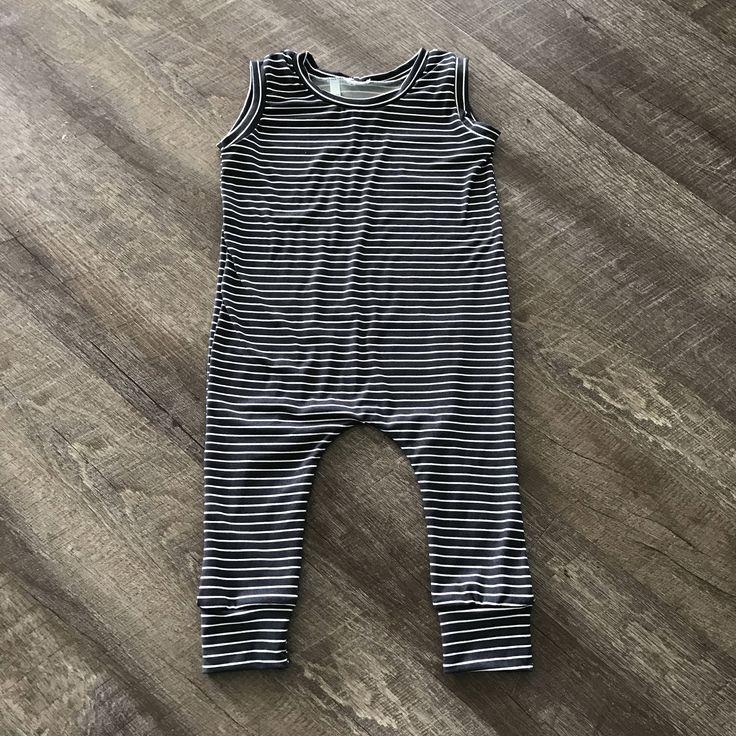 Charcoal Grey and White Stripes Tank Slip On Romper // sew TWICH // baby // child // trendy by sewTWICH on Etsy https://www.etsy.com/listing/511533492/charcoal-grey-and-white-stripes-tank