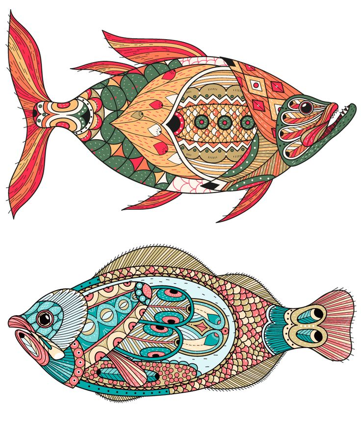 Стилизованная рыба картинка