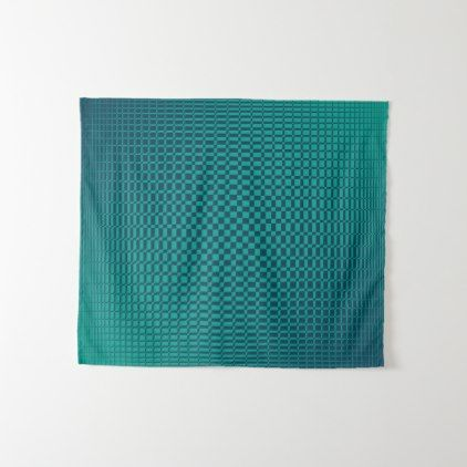 Shimmer - Arcadia Teal on Sailor Blue Tapestry - pattern sample design template diy cyo customize