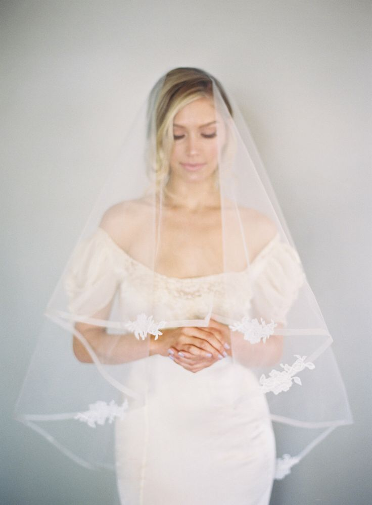 Just the right amount of lace for this regal veil. Only from www.veiledbeauty.com. https://www.etsy.com/listing/267083804/12-inch-horsehair-veil-chantilly-lace