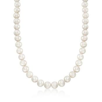 Ross-Simons - 10-11mm Cultured Pearl Necklace With 14kt Yellow Gold - #469069