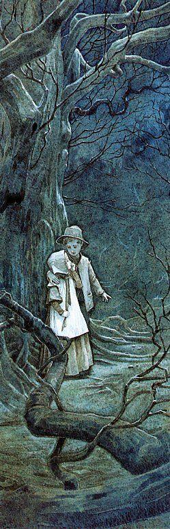 Hansel & Gretel - illustration by P.J. Lynch