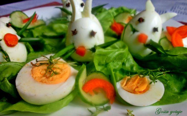 Gosia gotuje...: Zajączki z jajek