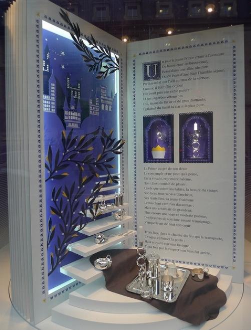 Christofle Paris. Open book product display