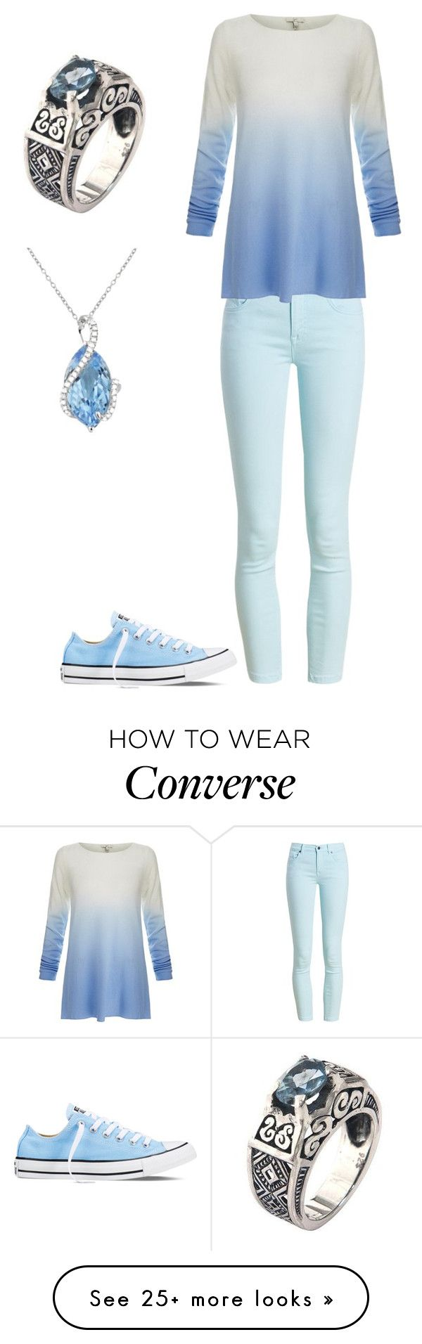 """Blue"" by killswitch2864 on Polyvore featuring Barbour, Joie, Converse, NOVICA and Effy Jewelry"