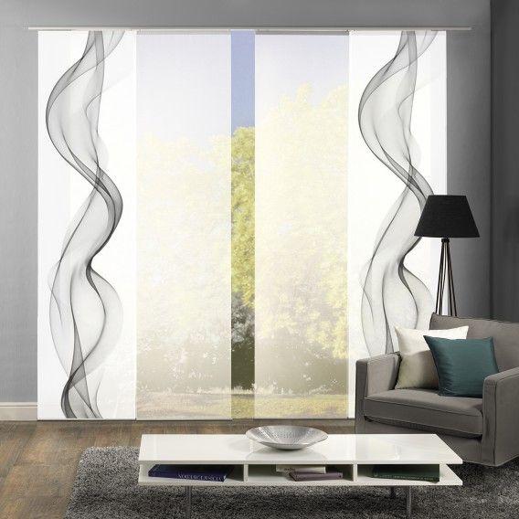 Schiebevorhang Alberta I 4er Set Home24 Schlafzimmer Vorhange Gardinen Fur Kleine Fenster Vorhange