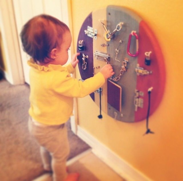 Awesome latch board I made for my little girl! Great developmental toy for fine motor skills! I might start selling these on my etsy site (etsy.com/shop/beachbabycouture) thoughts?