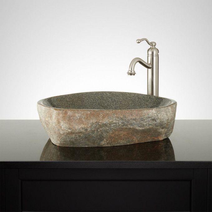 Kern Black River Stone Vessel Sink Home Ideas in 2018 Pinterest