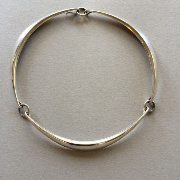 Gallery 925 - Hans Hansen Modernist Necklace, Handmade Sterling Silver