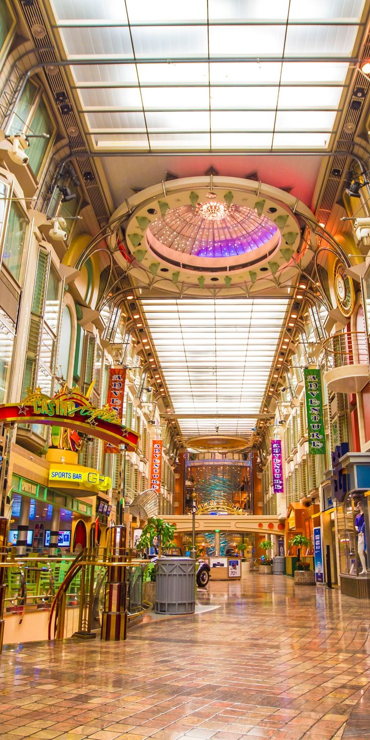 Adventure of the Seas | An upgraded adventure walk. Admire the artwork onboard this Voyager-Class ship, try your luck in the Vegas-style Casino Royale, or dine at one of the many fine dining options available onboard. Cruise with Royal Caribbean for an onboard experience you'll never forget.