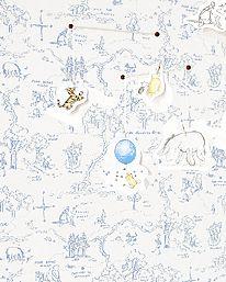 One Hundred Acre Wood Map Blue från Jane Churchill