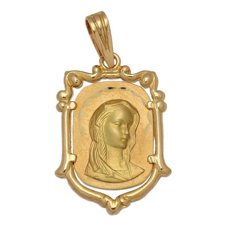 #Medalla de Oro de 18 Kl. con la Virgen Niña 17 x 25 Mm. : Joyeria online | joyeria plata | joyeria de plata Original diseño de Medalla, está realizada en Oro de 18 Kl. con la imagen de la Virgen Niña. Sin duda una joya muy especial perfecta para regalar a una niña que vaya a tomar su Primera Comunión. Se convertirá en un precioso recuerdo para toda la vida.   ¡Decídete ahora y podrás tener esta especial Medalla para Comunión Virgen Niña en Oro de 18 Kl. !  Medidas: 17 x 25 Mm