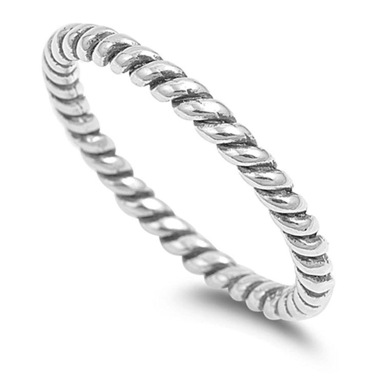 3.5mm Twisted Rope Braided Band Ring Men Women Band Ring Solid 925 Sterling Silver His Her Wedding Anniversary Band Ring