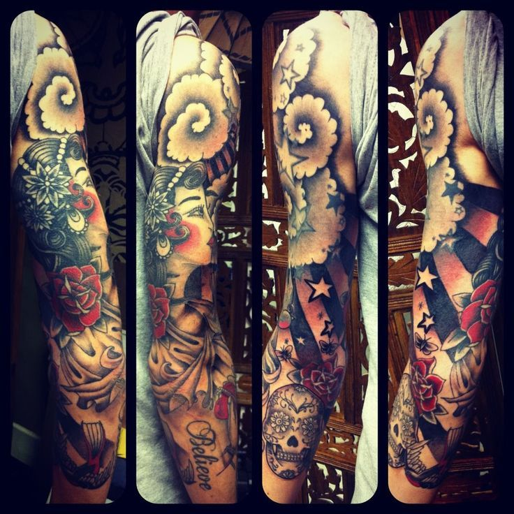 46 best Sleeve tattoo ideas images on Pinterest | Tattoo ...