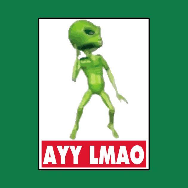 Awesome 'Ayy+lmao' design on TeePublic!