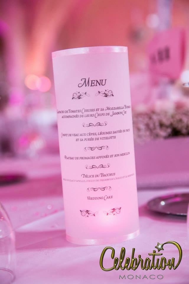 menu personnalis organisation dcoration et animation de mariages monaco - Ide Chanson Personnalise Mariage