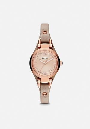 Fossil Georgia Mini Watches Stainless Steel & Leather
