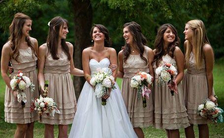 Beige #bridesmaid #dress