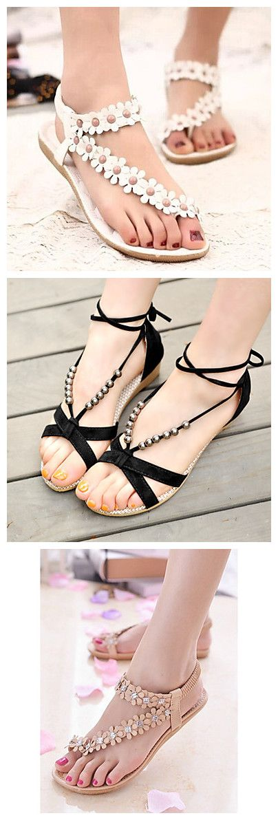 Nice flat shoes with delicate decorations. You'll feel really comfortable with them. They are all 85% OFF!