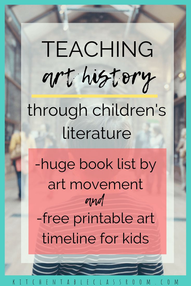 Teaching Art History through Children's Literature with Free Art Timeline for Kids