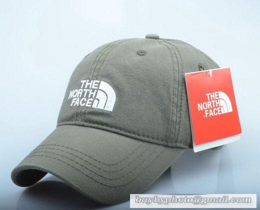 The North Face Baseball Cap Curved visor Hat Summer Men Women Hat Sport Outdoor Cap Olive-drab