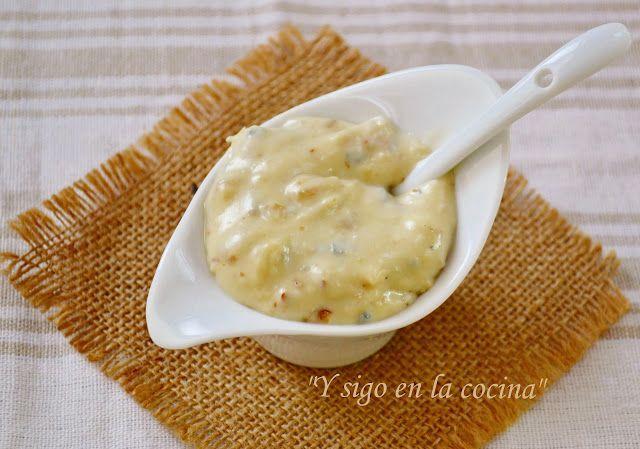 salsa de gorgonzola y nueces