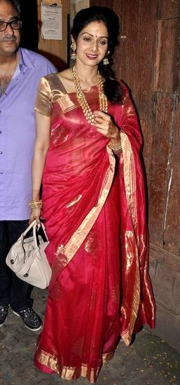 Vogue India's Best Dressed in South Indian Sarees: Sridevi