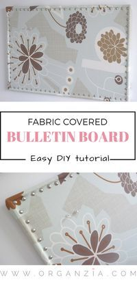 DIY: Bulletin Board mit Stoffbezug, super einfaches Tutorial   – Home Office DIY Project Tips