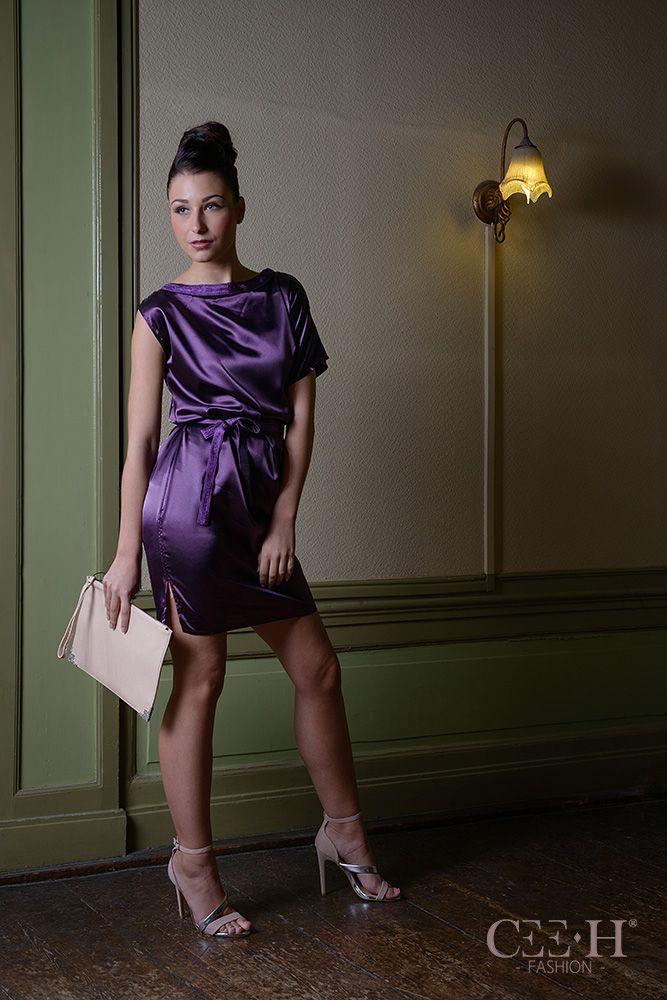 Silk purple dress  Zijden paarse jurk