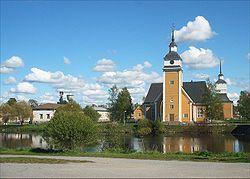 The St. Birgitta Church in Nykarleby.
