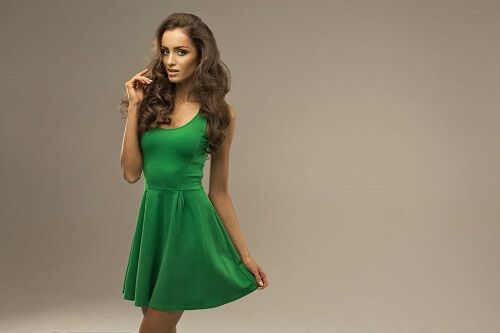 Green with olive skin