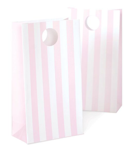 Party Bag rosa Streifen (12) – littleparty.at