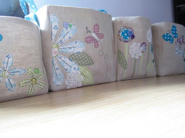 Fabric baskets by Handmade by Amber