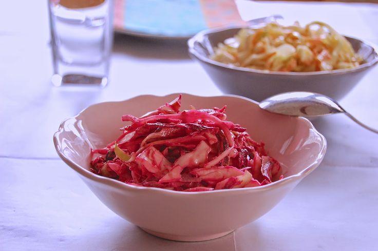 Parts de plaisir: Coleslaw rose pour accompagner votre poulet- kesako?