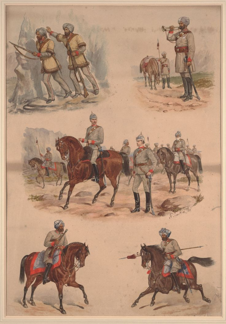 Indian corps of Guides c.1880 by Richard Simkin