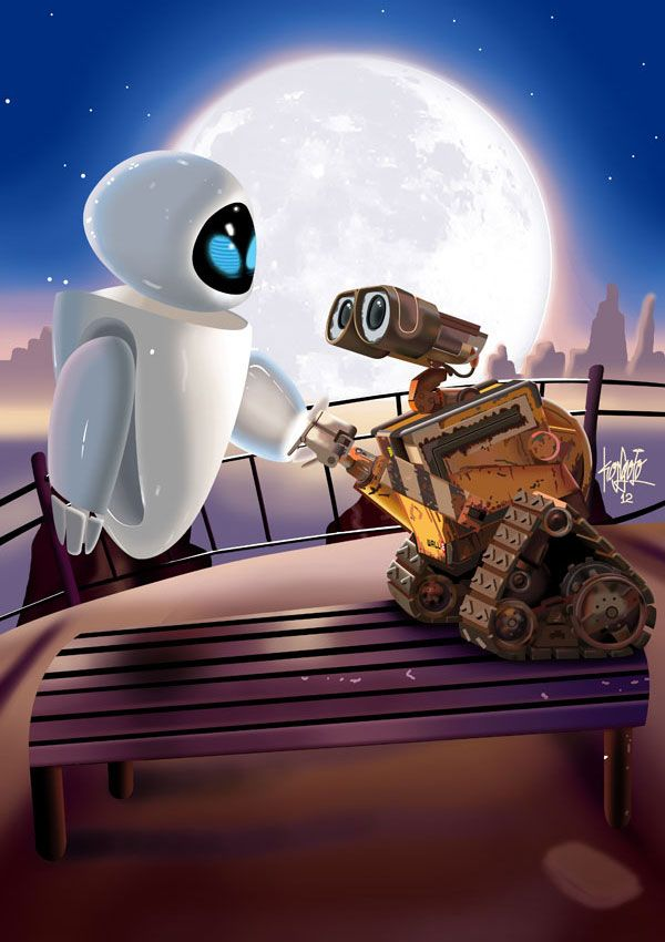 *EVA and WALL.E!!!!!!!!!!!! Sweetest Robot Love EVER!*