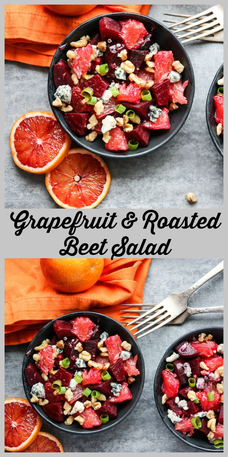 Grapefruit and Roasted Beet Salad with toasted walnuts