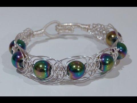 Wire herringbone macrame bracelet - CSLdesigns